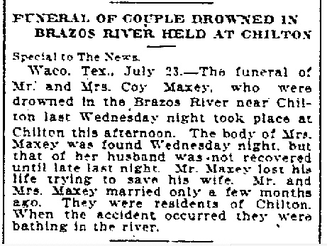 Coy Maxey drowns