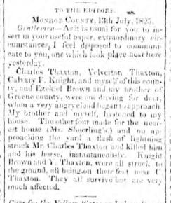 Obituary | Thaxton / Thackston Genealogy